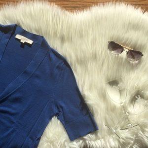 LOFT Short Sleeve V-Neck Cardigan